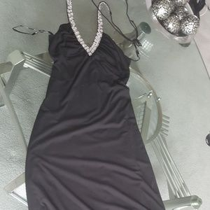 Night way collections. Halter Maxi gown